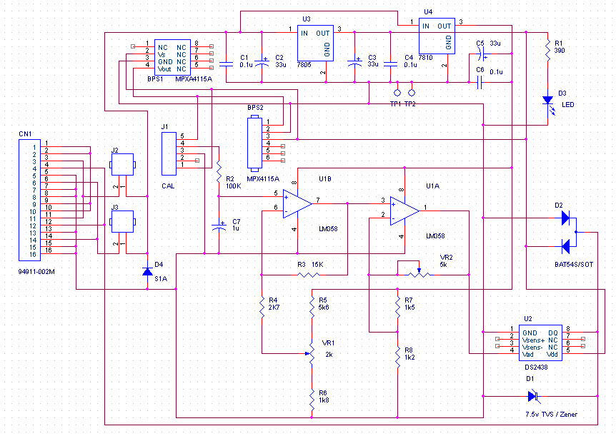 Wire Barometer Project SIMAT Electronic Projects - 1 wire hub schematic